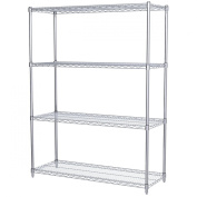 Akro-Mils AWS631848SU 4-Shelf Wire Shelving Starter Unit, 46cm x 120cm x 160cm , Chrome