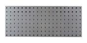 LocBoard LBS-3S Steel Square Hole Pegboard Strip, 80cm x 30cm , Silver