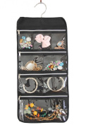 Misslo 8 Zippered Pockets Travel Jewellery Organiser with Rotatable Hanger