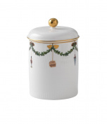 Star Fluted Christmas Canister Jar with Lid By Royal Copenhagen