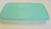 Tupperware Medium Freezer Mates #2093 Aqua Container and Lid 2 3/4 Cup