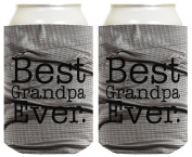 Funny Beer Coolie Best Grandpa Ever 2 Pack Can Coolie Drink Coolers Coolies Simulated Duct Tape