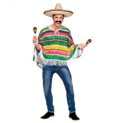 Mexican Bandit Poncho Costume Adult Stag Party