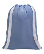 Handy Laundry, Backpack Laundry Bag, Commercial Grade, Made in USA, 60cm X 70cm ,Light Blue