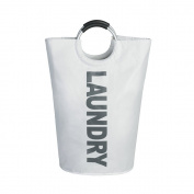 xhorizon TM ZA5 Fashion Big Capacity Multi-Purpose Tall Circular Folding Laundry Hamper Bag, Storage Basket with Handles
