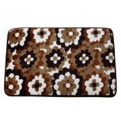 Kingfansion Flower Pattern Memory Foam Non-slip Bath Floor Mats Mat Carpet Rugs
