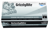 Hospeco ProWorks GrizzlyNite GL-N105FL Exam Grade Nitrile Glove, Powder Free, Disposable, 24cm Length, 4.3 mil Thick, Large