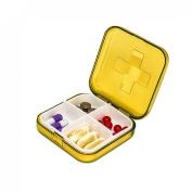 Voberry® Mini 4 Slots Portable Medical Pill Box Drug Medicine Case Organiser New