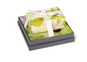 Mudlark Handcrafted Soap Bar and Dish Gift Set, Classic Almond/Amelia