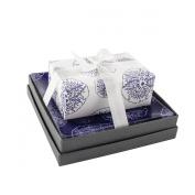 Mudlark Handcrafted Soap Bar and Dish Gift Set, Sweet Lime/Cirali Beach
