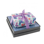 Mudlark Handcrafted Soap Bar and Dish Gift Set, Classic Almond/Bloom