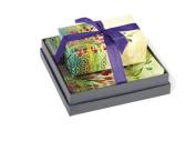 Mudlark Handcrafted Soap Bar and Dish Gift Set, Classic Almond/Faye