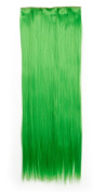 Sexybaby 70cm Straight Synthetic One Piece 5 Clips Half Full Head Clip in Hair Extensions
