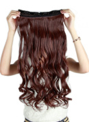 Sexybaby Synthetic Clip-in Hairpieces Extensions 60cm Curly Half Full Head with 5 Clips