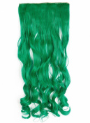 Sexybaby 60cm Curly Synthetic One Piece 5 Clips Clip in Hair-pieces Extensions Half Full Head