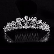 BelleSha Queen Sophia Tiara - wedding bridal prom birthday pageant headpiece