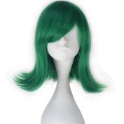 Miss U Hair Movie Disgust Synthetic Short Wavy Green Anime Cosplay Full Wig
