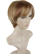 Dreamworld® High Quality Women's Short Mixed Colour Straight Cosplay Costume Wig Hair Heat Friendly Capless Wig Hj069