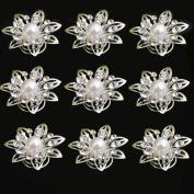 Yantu 12pcs Clear Crystal Flower Swirl Hair Twists Coils Spirals Hair Pin Clip Accessories
