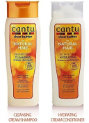 Cantu Shea Butter for Natural Hair Double Combo Shampoo and Conditioner. Includes 1 free Eye pencil