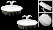 2 Massaging Shampoo Brush Head Scalp Massager Hair Comb With Finger Ring - Home, Gym & Travel