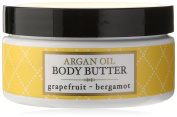 Deep Steep Argan Oil Body Butter, Grapefruit Bergamot, 7 Fluid Ounce