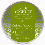 Attirance - Body Yoghurt - Lemon & Olive - 200ml - All Natural with Lemon Essential Oil & Avocado Oil