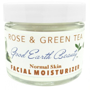 Facial Moisturiser Rose & Green Tea for Normal Skin By Good Earth Beauty