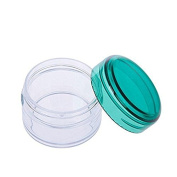 10 Pcs 20ml Transpatent Mini Empty Jar Pot Eyeshadow Face Cream Lip Balm Container Cosmetic Containers Bottles Green Cap