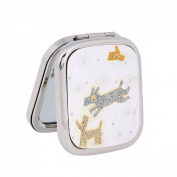 Damara Girl's Twin Lovely Dogs With Crystal Makeup Mirror