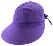Enimay Women's Colourful Sun Hat Large Brim Visor Rear Bow Elastic Headband