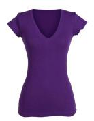 Girls' Solid Basic Plain Cotton V Neck Tee Shirt Top