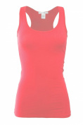 Bozzolo Women's Basic Cotton Spandex Racerback Solid Plain Fitted Tank Top