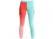 Nike Women's Track and Field Graphic Leggings, Daring Red/Light Aqua/White