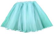 Hairbows Unlimited Adult & Teen Aqua Ribbon Lined Dance Tutu Skirt
