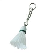 Sonline White Plastic Shuttlecock Badminton Pendant Keychain Keyring Ornament