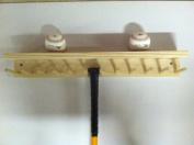 Baseball Bat Rack and Ball Holder Display Natural Finish Meant to Hold up to 11 Full Size Bats and 6 Baseballs