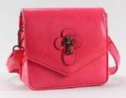Victoria Leland Designs 82583 Bag-Cross Body Vegan Leather withMetallic Cross Accents - Pink