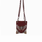 Accent Accessories 122350 Bag-Cross Body With Small Studded Cross And Wing - Brown
