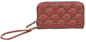 GG Rose By Rock Rebel Quilted Skull Wallet Organiser Marsala