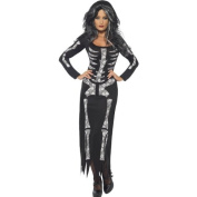 Adult Ladies Halloween Skeleton Tube Dress Costume (Women