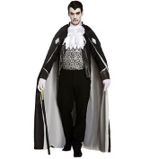 DRACULA SCARY MAN OF THE HOUSE VAMPIRE HALLOWEEN FANCY DRESS COSTUME PARTY CAPE OUTFIT