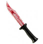 Plastic Bloody Blade Halloween Fake Knife Knives Scream Props Bleeding Weapon