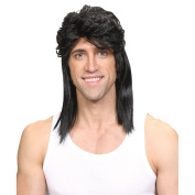 Wicked Costumes 1980's Mullet Redneck Hillbilly Southern Hairstyle Wig - Black