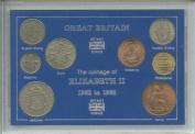 1962-1966 Queen Elizabeth II Great Britain British Coin Collection Collector Type Set