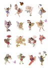 16 Stand Up Vintage Flower Fairy Themed Edible Wafer Paper Cake Toppers Decorations