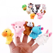 Tonsee® 10pcs Animal Finger Puppet Plush Child Baby Early Education Toys Gift