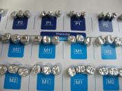 54PCS:DENTAL aluminium TEMPORARY CROWN (Premolar 6sizes + Molar 12sizes) *3EA