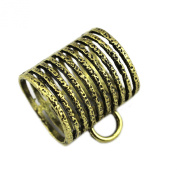 PendantScarf Antique Bronze Net Style Alloy Jewellery Scarf Clasp Bails Tube Slides