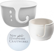 Yarn Bowl Collection and NHC Gripper Set - Set of 2 - Give One And Keep One - Paint Your Own Ceramic Keepsake